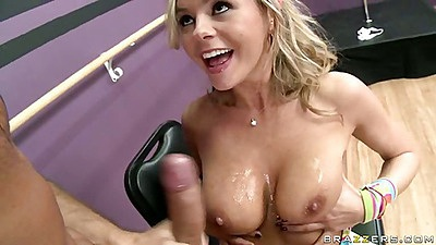 Bree Olson deepthroat and hairy pussy licking