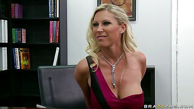 Milf Devon Lee goes down on dude in teh office