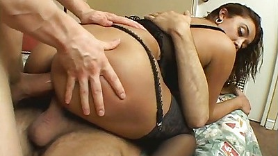 Stretching a nice gaping asshole on Imy after double penetration