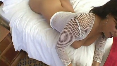 Blowjob and doggy style with big ass Mia Bangg with close up anal fuck