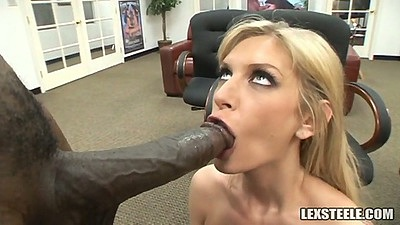 Huge black cock for blonde big tits slut Brooke Banner