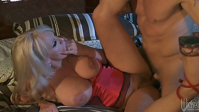 Big tits blonde milf Stormy Daniels fucked into big ass