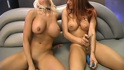 Belladonna masturbating with a nice dildo in lesbian scene