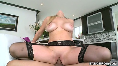 Reverse cowgirl milf sex with big tits Abbey Brooks