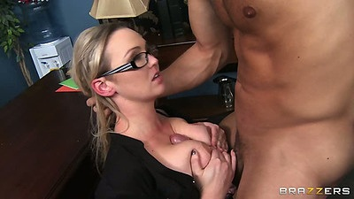 Titty fuck with milf babe Abbey Brooks in office