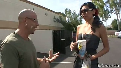 Asian hottie Landon picked up in public parking lot