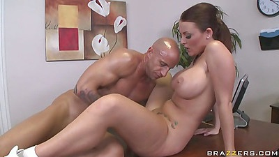 Sexy sophie dee gets slammed on the office desk